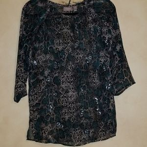 Chico's snakeskin printed blouse